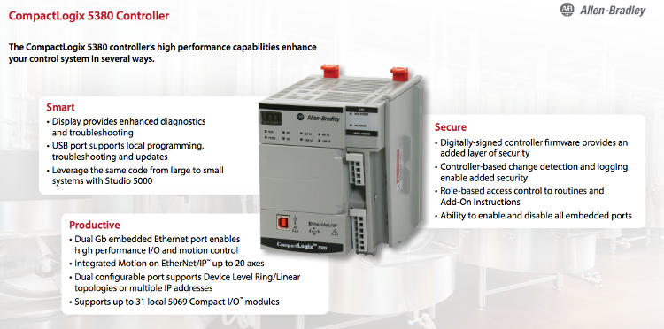 Rockwell Automation CompactLogix 5380 Controller